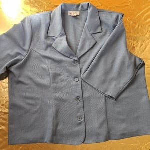 Vintage 90s/00s blue plus single-breasted blazer